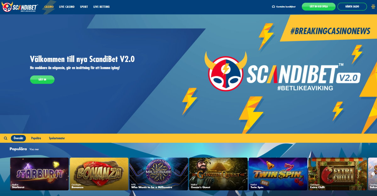 Scandibet casino och betting